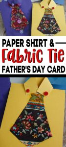 Paper Shirt and Fabric Tie Father's Day Card
