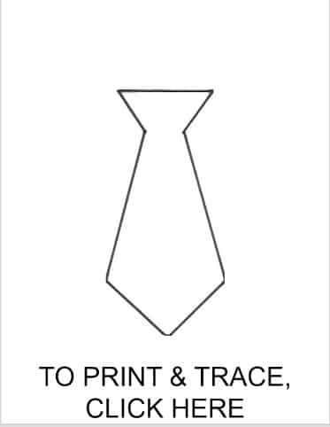 Printable tie template