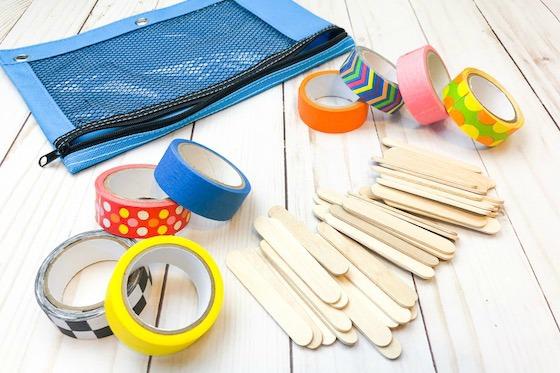 supplies to make craft stick dominoes