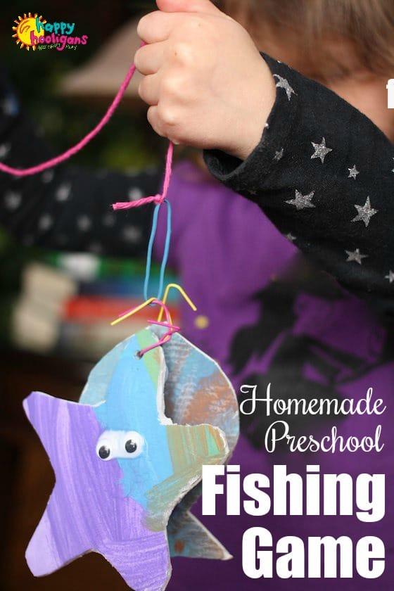 Homemade Preschool Fishing Game