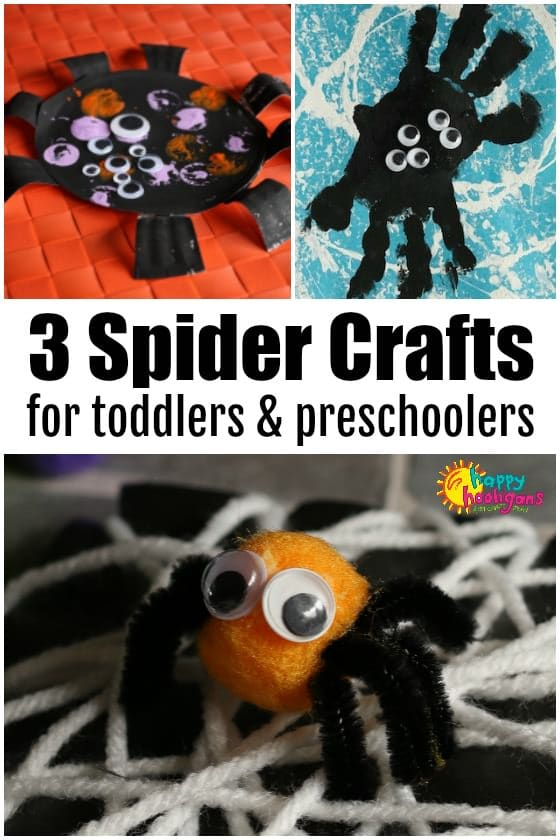 Halloween Spider Crafts for Preschoolers