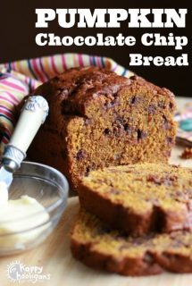 Pumpkin chocolate Chip Loaf with Coconut Oil and Whole Wheat Flour