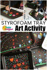 Styrofoam Tray Art Activity for Kids