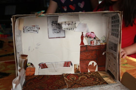 dollhouse with shoebox