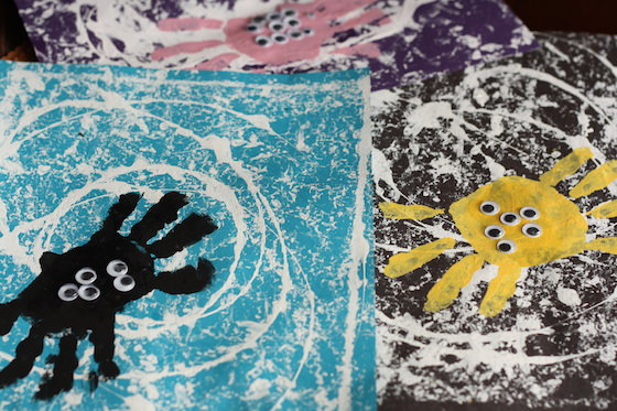 preschool spider handprint craft