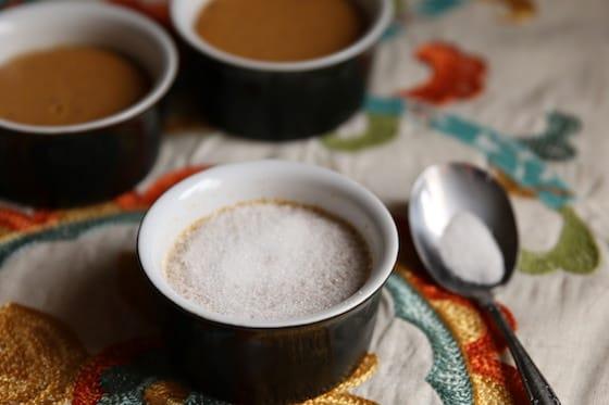 White Sugar on Creme Brûlée