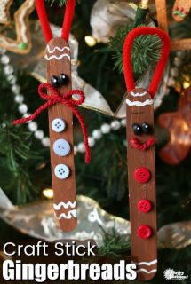 Popsicle Stick Gingerbread Man Craft for Kids