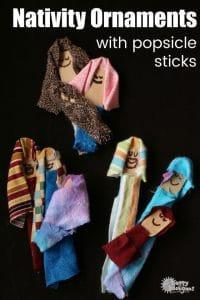 Popsicle Stick Nativity Craft