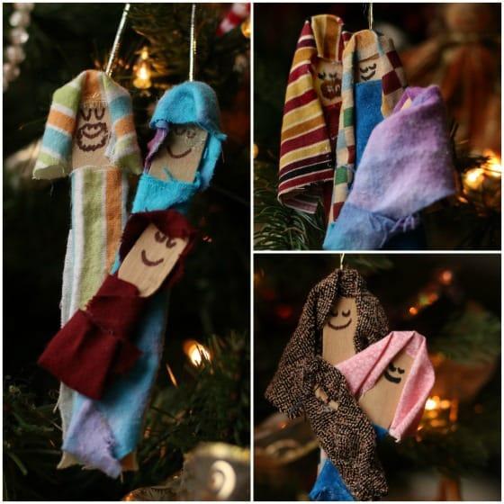 homemade nativity ornaments kids