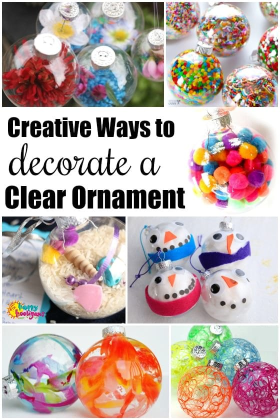 Clear Glass Ornament Crafts
