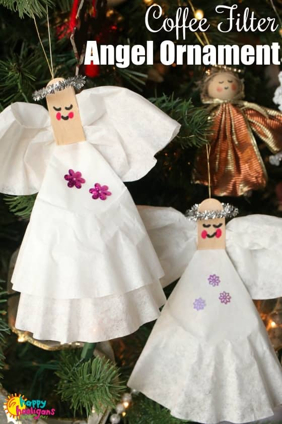 Coffee Filter Angel Craft and Ornament for Kids