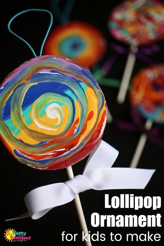 Easy Lollipop Ornament for Kids - feature photo
