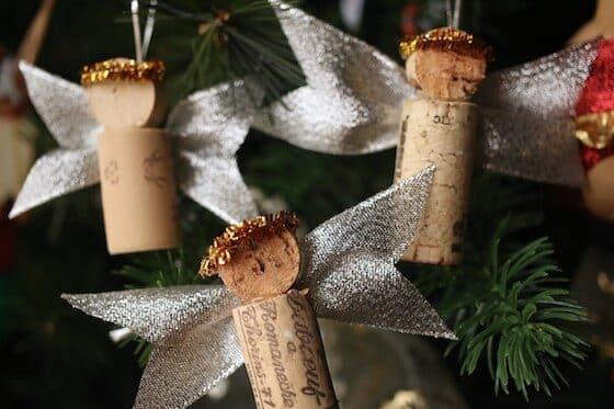 Cork angel Christmas tree ornaments