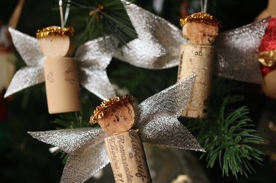 Cork angel Christmas tree ornaments