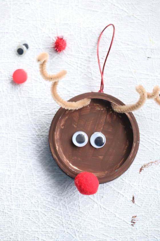Mason Jar Lid Reindeer Ornament For Kids To Make Happy Hooligans