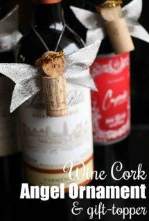 Wine Cork Angel Ornament Gift Topper