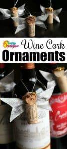 Wine Cork Bottle Topper Christmas Ornaments