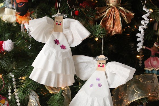 Easy Coffee Filter Angel Craft for Kids