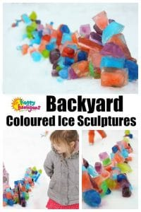 How to build coloured ice sculptures in the backyard