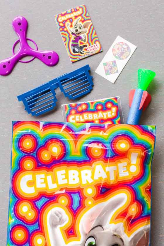 Loot bag Chuck E. Cheese Birthday Party