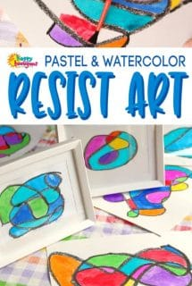 Resist Art with Pastels and Watercolours (Stained Glass Doodles)