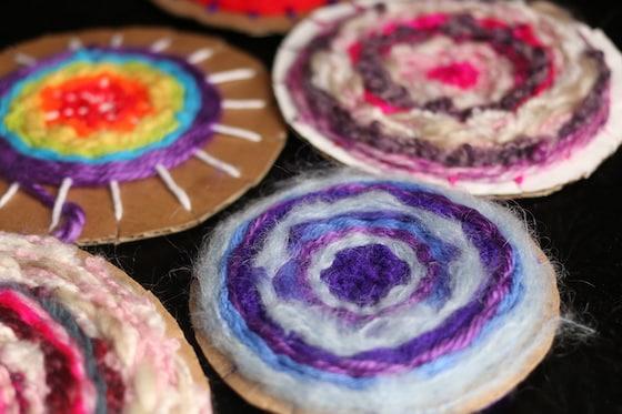 Close up purple circular weaving