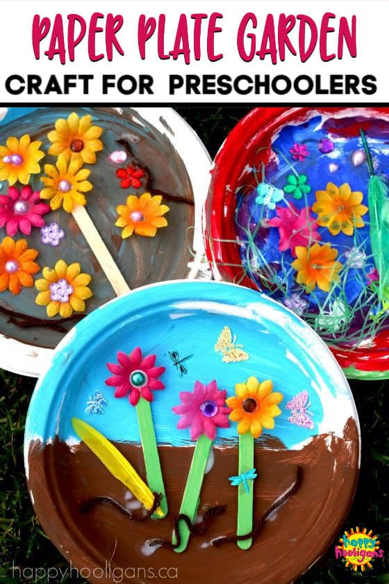 Paper Plate Garden Craft Toddlers and Preschoolers-