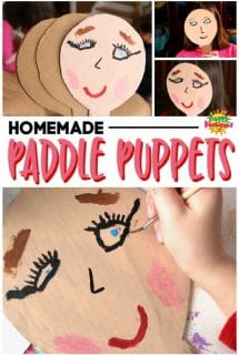 Homemade Paddle Puppets