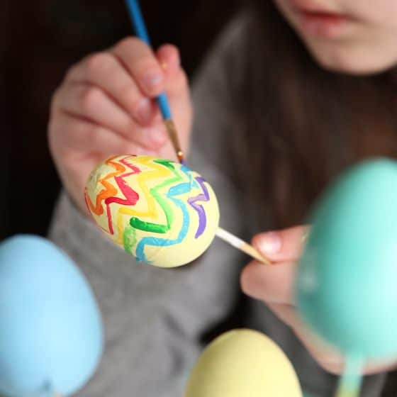 sophie painting egg