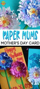Paper Mums Mother's Day Card