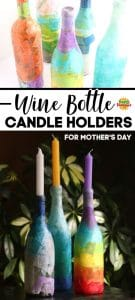 Wine Bottle Candle Holders Long Pin