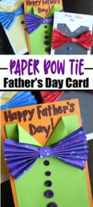 Paper Bow Tie Father's Day cards for Kids to make