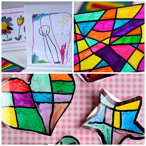 Sharpie and Photo Paper Art Ideas for Kids
