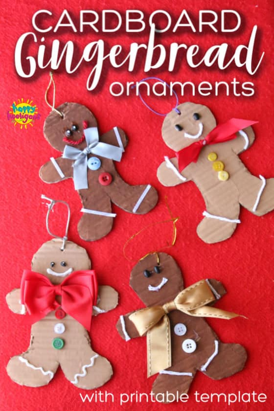 Cardboard Gingerbread Man Ornaments - Feature Photo
