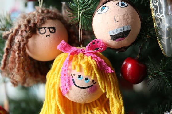 Self Portrait Christmas Ornaments