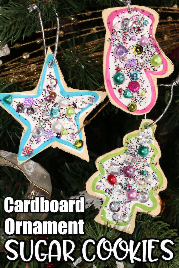 Cardboard Sugar Cookie Ornaments for Kids