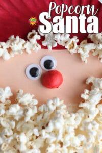 Paper Plate Popcorn Santa Craft for Kids