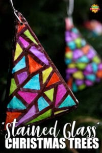 Homemade Ornaments stained glass and sharpies