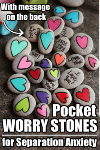 Homemade Worry Stones for Kids with Separation Anxiety