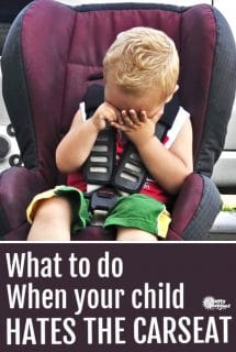 child hates car seat