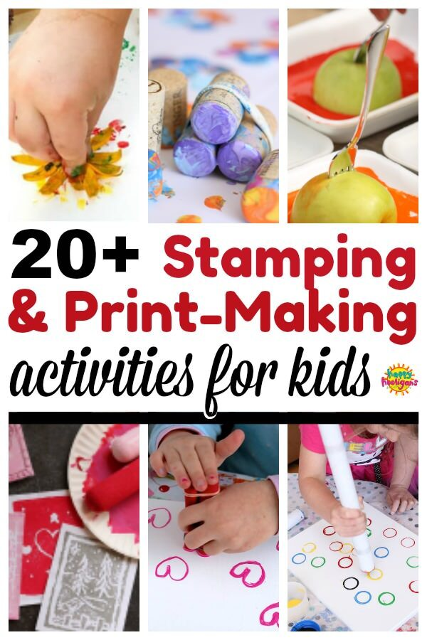 stamping and printmaking activities for kids - feature image