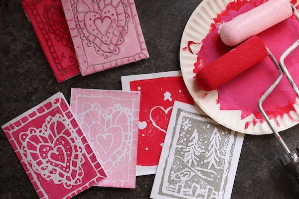 horizontal valentines cards prints
