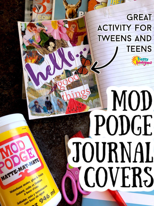 Mod Podge Journal covers