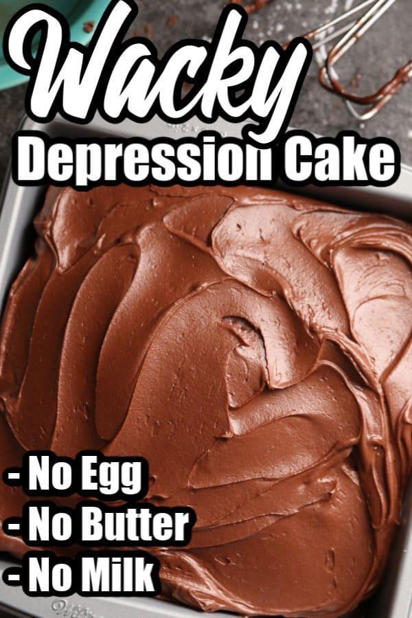 Chocolate Depression Cake (Wacky Cake)