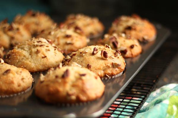 close up muffins in tin