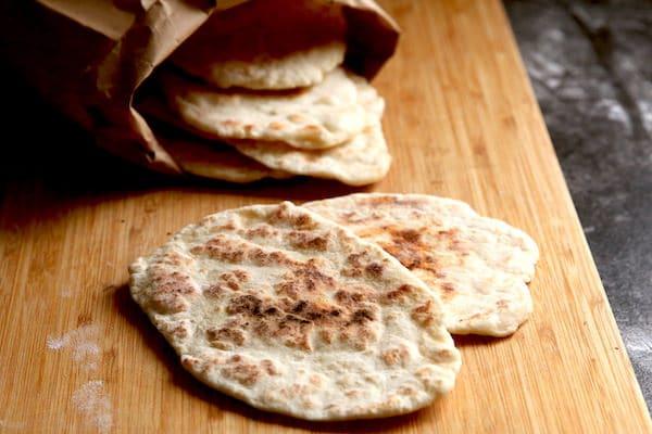 2-Ingredient Flatbread (Greek Yogurt and Flour) - Happy ...