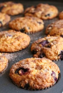 Blueberry oatmeal muffins feature image