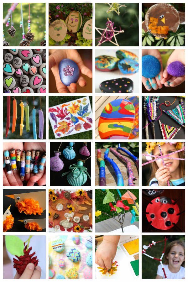 50 Nature Crafts For Kids Happy Hooligans