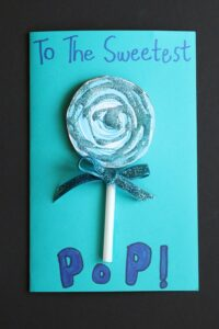 sweetest pop blue lollipop card