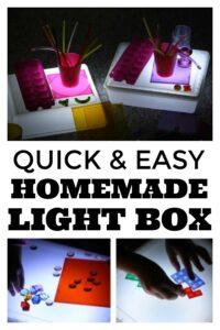 Homemade Light Box for Preschoolers